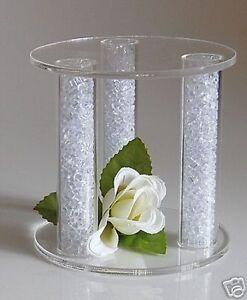 Mini Acrylic Cake Separator Cake Topper Wedding Stand Ebay
