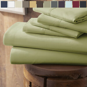 Home-Collection-Ultra-Soft-4-Piece-Bed-Sheet-Set-FREE-BONUS-PILLOWCASES