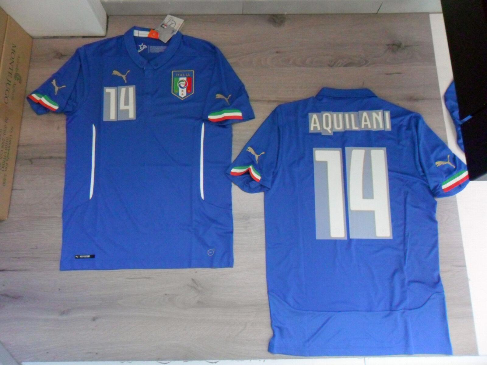 FW14 PUMA S NACH HAUSE ITALIEN 14 AQUILANI T-SHIRT WELT TRIKOT JERSEY  | Niedriger Preis