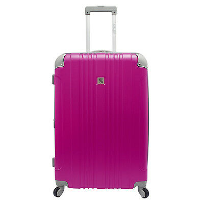 "Beverly Hill Country Club Malibu Newport 28"" Pink Light Spinner Suitcase Luggage"