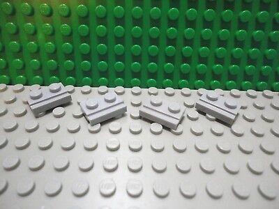 Lego 3023 1 x 2 Base Plate x 4 Light Grey