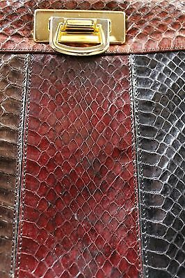 Tasche Handtasche Optik Schlangenleder Echtleder hand bag 80er True VINTAGE 80´s