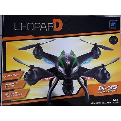 Quadrocopter/Drohne Leopard cx35 super aircraft mit Kamera Indoor/Outdoor
