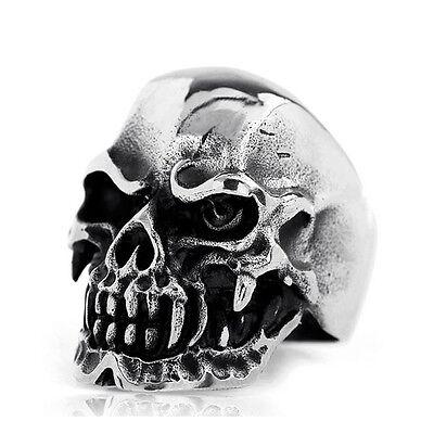 Punk Biker Ghost Terminator Skull 316L Stainless Steel Men's Party Ring