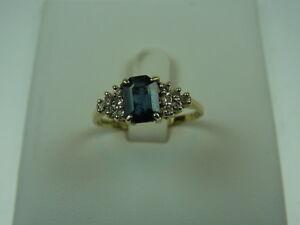 750er-Gelbgold-Ring-m-Saphir-Brilliant-Ringgrosse-57-5-Gewicht-2-6-Gramm