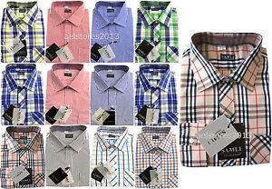 Garcons-Chemises-formelles-intelligent-manches-longues-raye-a-carreaux-age-1-15