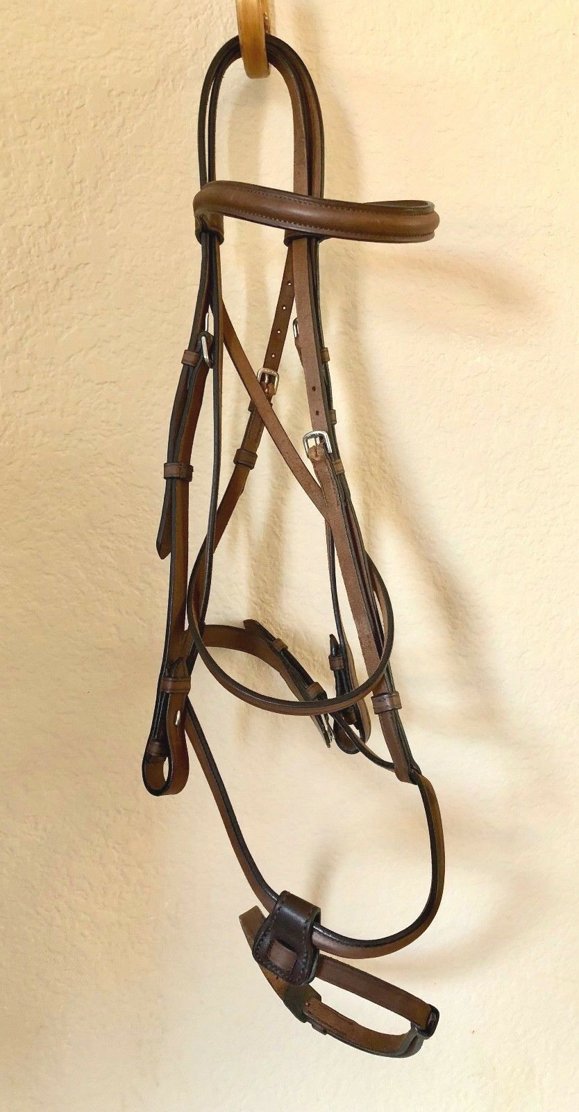 Guibert of Paris Raised Plain Bridle wdetachable Flash Full cavallo Diuominiione Marronee