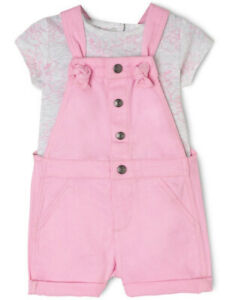 Clothing, Shoes & Accessories Constructive New Sprout Girls Dungaree & Top Set Pink Pure And Mild Flavor