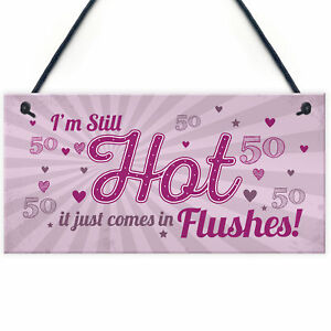 Image Is Loading Still Hot FUNNY 50TH Birthday Gifts For Women