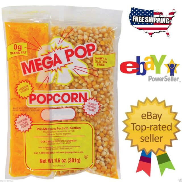 Mega-Pop Popcorn Kit - 8 oz. - 24 ct.