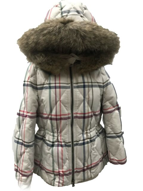 Coach 84053 Women/'s Tattersall Plaid Puffer Down Short Jacket Coat Multicolor