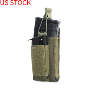 Open-Top Single Mag Pouch for Elastic Kangaroo Rifle Magazines&Pistol Mag Pouch