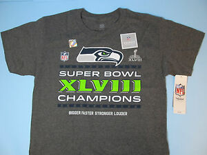 8c785bb6 Details about Seattle Seahawks S/S Shirt Seahawks Super Bowl 48 Champions  Youth Clothing NWT