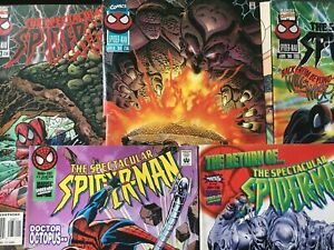 THE-SPECTACULAR-SPIDERMAN-230-232-235-236-amp-238-5-ISSUE-LOT-1996-MARVEL