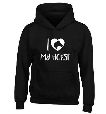 Amo Il Mio Cavallo, Kid's Felpa Con Cappuccio/maglione Animale Pony Pet Equine Scuderie Regalo 3461-mostra Il Titolo Originale Sconti Prezzo