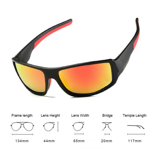 Mens Polarized Cycling Sunglasses Driving Fishing Outdoor Sports UV400 Goggles 2