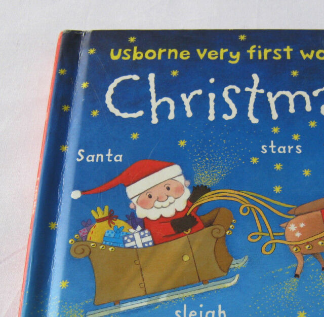 Christmas Usborne Very first words board book Toddler kids Picture book Xmas