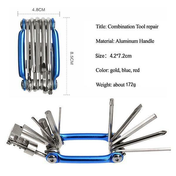 Bicycle Chain Tool Breaker Extractor Bike Multi-function Repair Kit Portable