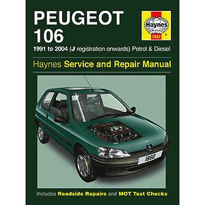 new haynes manual peugeot 106 91 04 car workshop repair book h1882 rh ebay co uk manuel pdf peugeot 106 peugeot 106 manual de usuario
