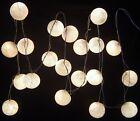 Blanco ovillo de algodón Batería Guirnalda de luces LED 20 luz Bolas Utiliza 3X