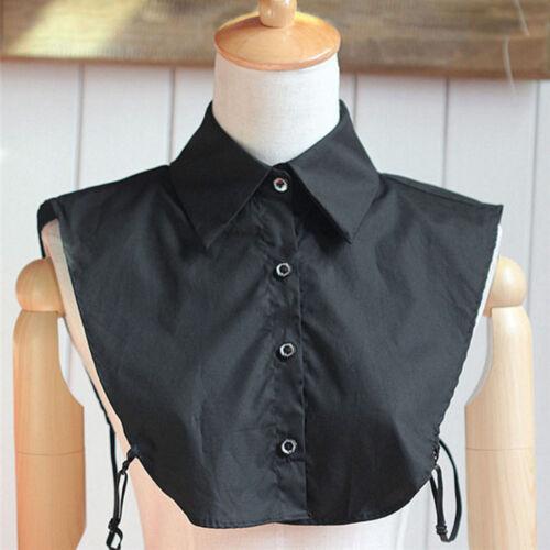 Women Vintage Collar Choker Necklace Detachable Lapel Shirt Fake False Collar