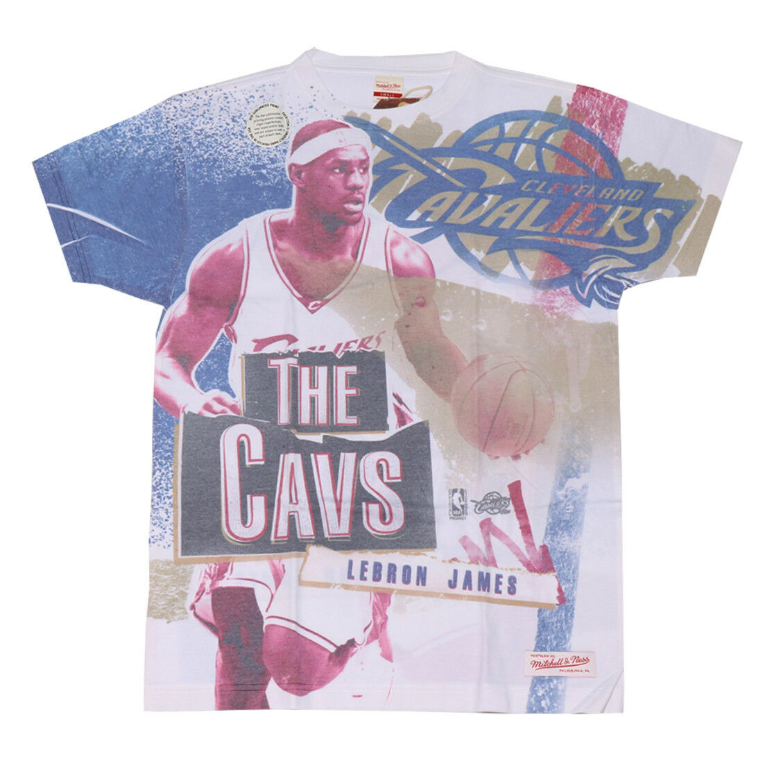 NEW mitchell & ness COTTON/POLY TEE CAVALIERS LEBRON JAMES