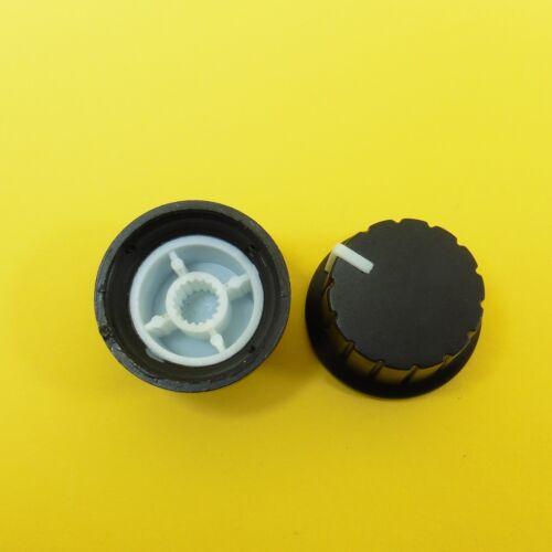 Manopola potenziometro in plastica foro dell/'albero 6mm controllo volume testa zigrinata Cap