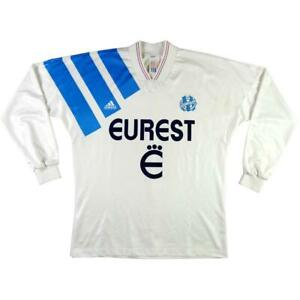 1993-94-Olympique-Marseille-MAGLIA-HOME-L-SHIRT-MAILLOT-TRIKOT