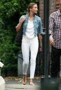 Skinny Mirror Looker Crop 27 Mother Jeans WhiteEbay Denim In vmNnw80