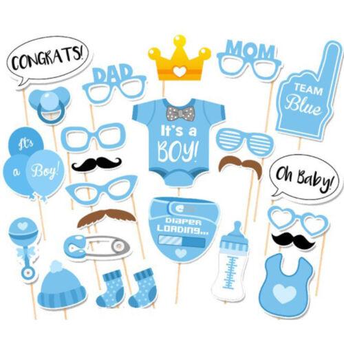 Baby-Dusche-Fotokabine Requisiten kleiner Junge Mädchen Neugeborenes Geburtstag