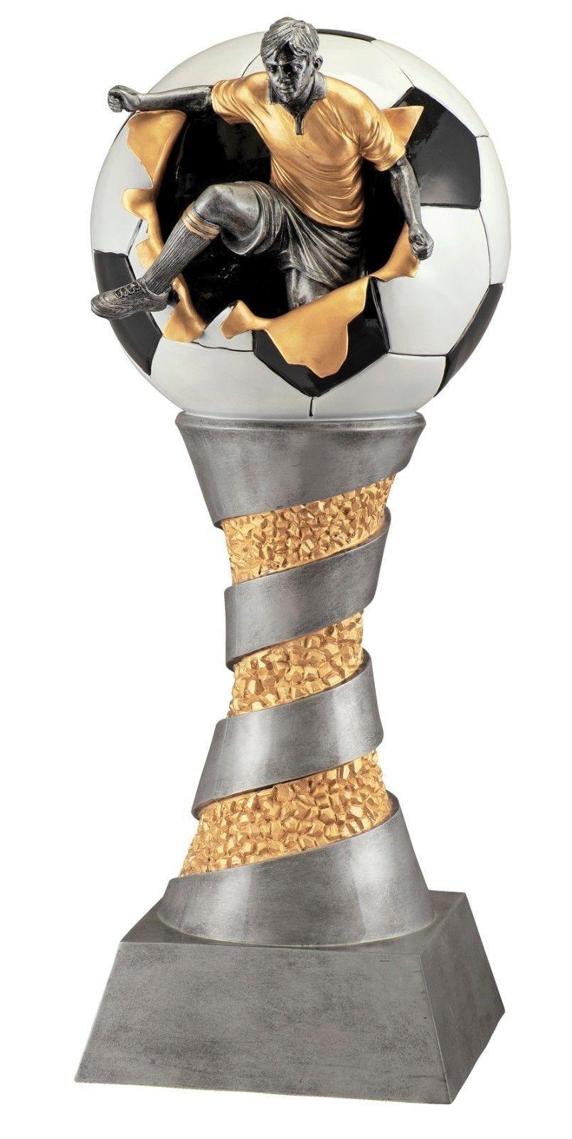 XXXL FUSSBALL 3D FIGUR POKAL80 cm hoch+8 kgPREMIUM kgPREMIUM hoch+8 Fußball CUPTurnierTrophäe 8bb8a8