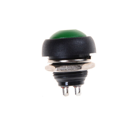 12mm LED illuminated Metal Momentary Push Button Switch Boat Car 1A//12V VHODF UL