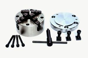 """100MM 4 JAW INDEPENDENT CHUCK WITH 100MM BACKPLATE FOR ROTARY TABLE 4/""""// HV4"""