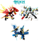 Bleu Ninja Dragon Knight ™ Blocs de construction Enlighten jouets pour enfants ninjagoes