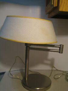 Details About Walter Von Nessen Lighting Swing Arm Desk Lamp Nickel Vintage Mcm