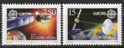 Postfrisch Lange Lebensdauer Jugoslawien Nr.2476/77 ** Europa Cept 1991