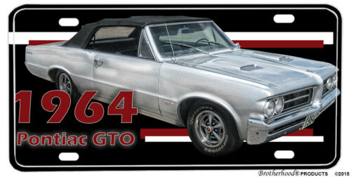 1964 Pontiac GTO Convertible Aluminum License Plate