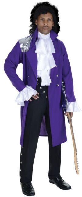 80's Pop Star Costume Prince Purple Rain Movie Singer Rogers Nelson Coat Shirt