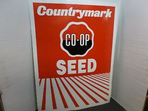 One Vintage Co-Op Member Sign Agriculture Farming Farm Co-Op Seed Shop Tin