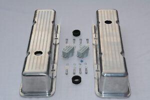 Chrome Aluminum SB Chevy Ball-Mill Tall Valve Cover 283 305 327 350 400 SBC