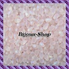 25 Perles de bohème goutte 9 x 6mm coloris rosaline Mat ab