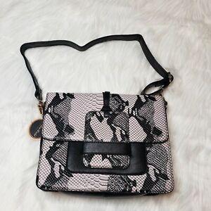 Snake-Print-Shoulder-Bag-Mellow-World-Brand-New-Faux-Leather-Vegan-Crossbody