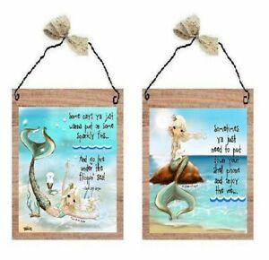 Mermaid Pictures Cute Sayings Bathroom Bed Bath Decor Wall Hangings Plaques Ebay