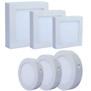Led aufbau deckenlicht leuchte lampe smd panel 6w 24w for Led deckenlicht