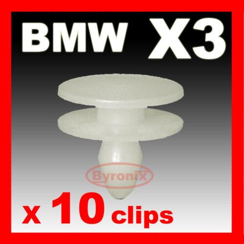 BMW X3 E83 Anteriore Parafango Passaruota in plastica Trim TAPPI CLIP