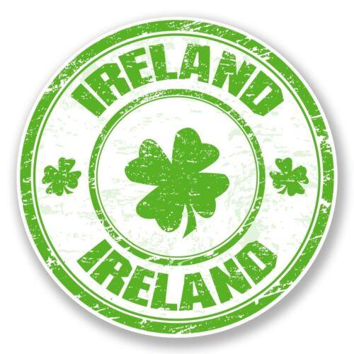 2 X Irlanda Pegatina de vinilo Laptop Equipaje de Viaje Coche #6789