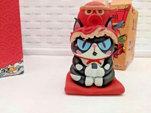 New 52Toys Ramen Cat Designer Toy 1//5 Tuxedo Cat with red Octopus