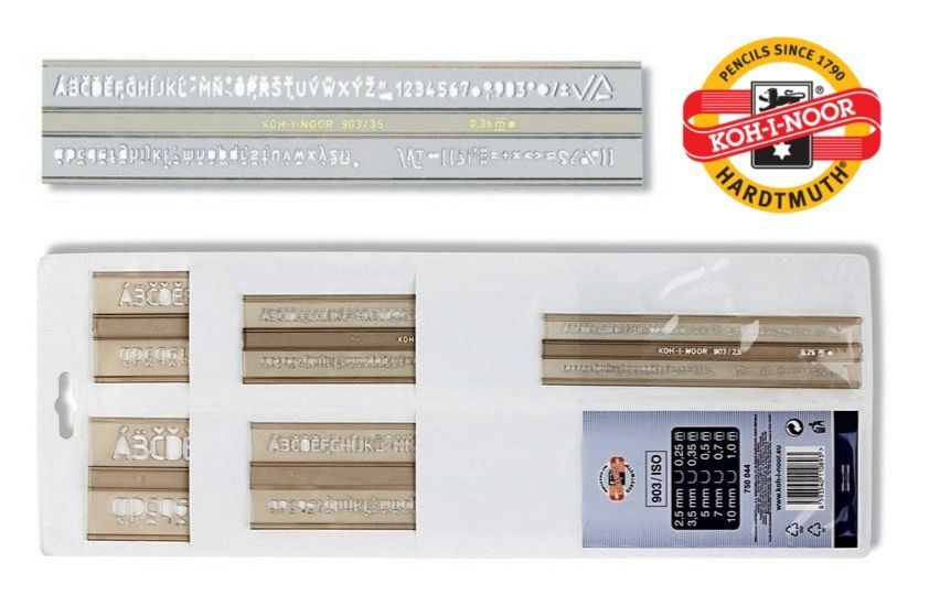 Hellerman 7.0mm Lettering Letter Guide Template Stencil