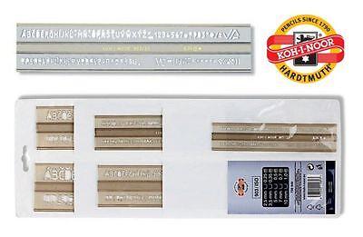 Letras de la plantilla Vertical plantillas de carta 903 Iso Sistema Métrico Koh-i-noor 2.5 3.