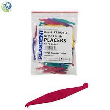 Dental Disposable Orthodontic Elastomeric Elastic Placers Braces Bands 100pcs
